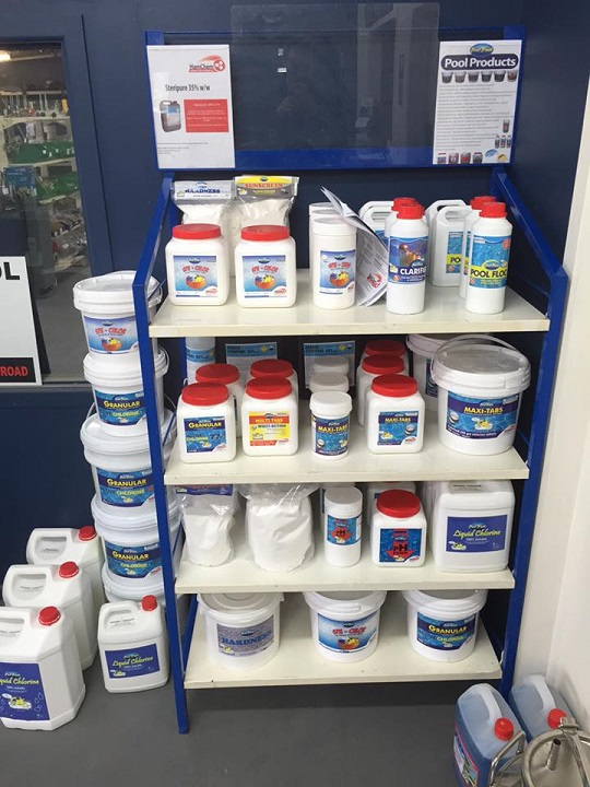 We now stock a full range of pool and spa chemicals at affordable prices.  Call in today and get your pool ready for summer!